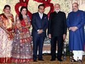 President Pranab Mukherjee, PM Narendra Modi attend Amit Shah's son's wedding reception in Delhi