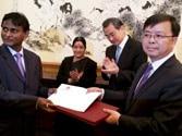 EAM Sushma Swaraj with Wang Yi