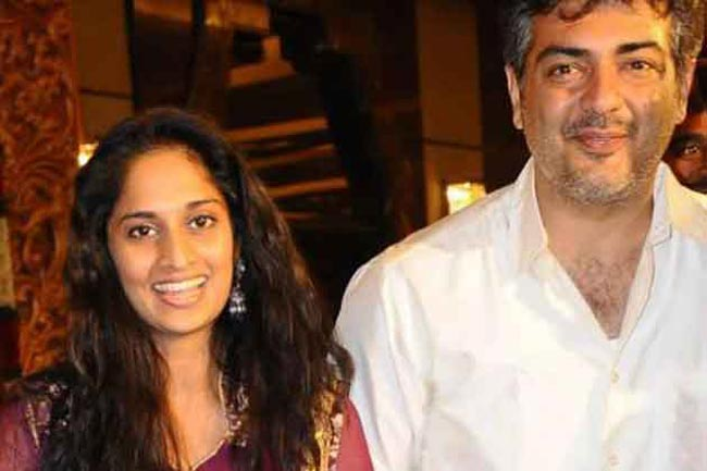 Tamil actor Ajith Kumar and his wife Shalini blessed with a