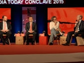 Panellists at the seesion, The New Barbarians: ISIS and Medieval Terror in the Digital Age, at the India Today Conclave