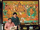 The stylised Kerala murals that decorate the walls of old temples have now moved to modern living rooms, with Malayalis willing to spend a couple of lakhs on them