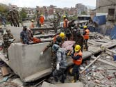 Nepal earthquake: Dozens of cracked buildings collapse