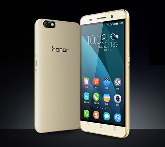 Huawei Honor smartphone with gold frame surfaces - Technology News