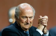 Sepp Blatter wins fifth FIFA term as challenger concedes
