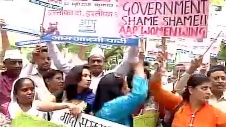 AAP stages protests