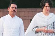 Congress ups ante to defend Priyanka, Robert Vadra
