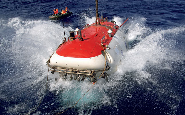 Jiaolong, China's manned deep-diving submersible