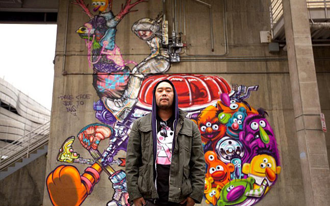 David choe was asked to paint the facebook offices in palo alto california in 2005 photo daily mail