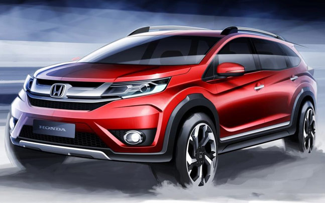 New Honda BR V Sketches Released India Launch In 2016