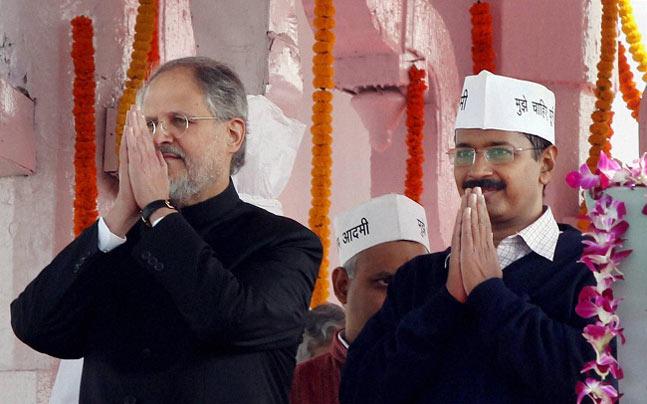 Najeeb Jung and Arvind Kejriwal
