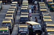 Mumbai taxis go off roads, commuters face a harrowing time