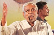 Bihar Chief Minister Nitish Kumar during a JD(U) programme in Patna on Saturday.