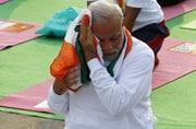 Prime Minister Narendra Modi at Rajpath.