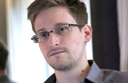 The whistle-blower, Edward Snowden, has been awarded the Freedom of Expression prize