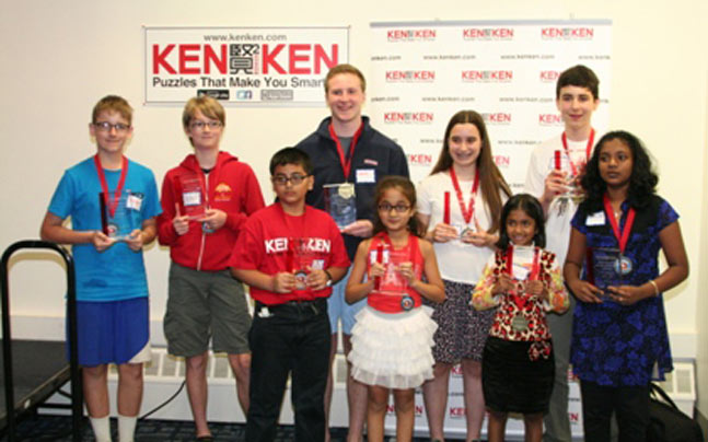 Students from India at KenKen International Puzzle Championship