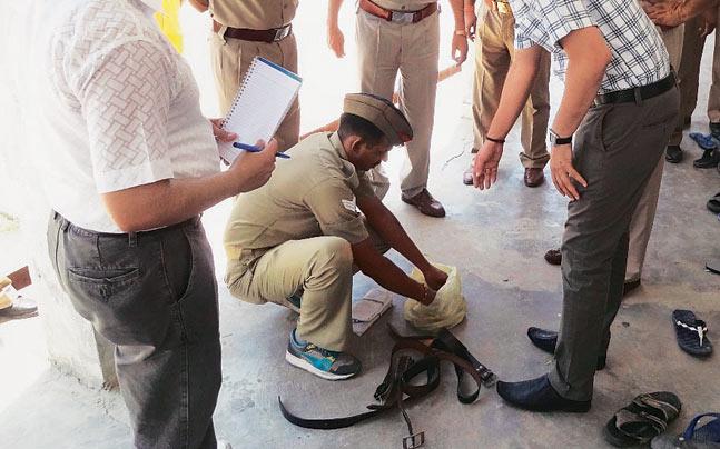 Authorities raided nearly 40 prisons across UP on Sunday.
