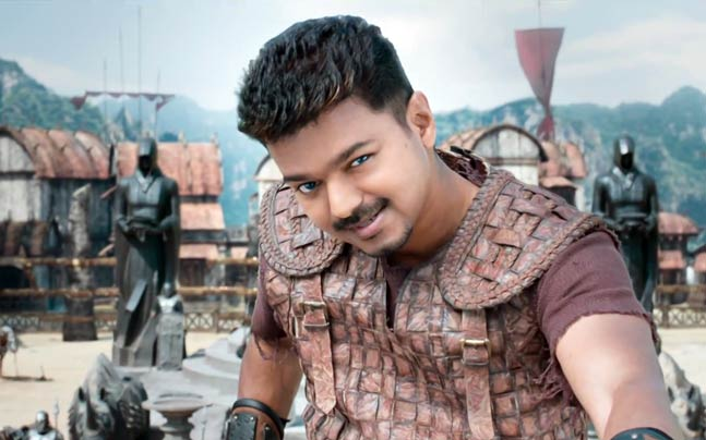 Vijay in a still from Puli