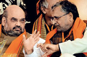 As his own fortunes get inextricably linked to the BJP winning Bihar, party chief Amit Shah devises a three-pronged strategy-centring around caste-to thwart the Lalu-Nitish combine.