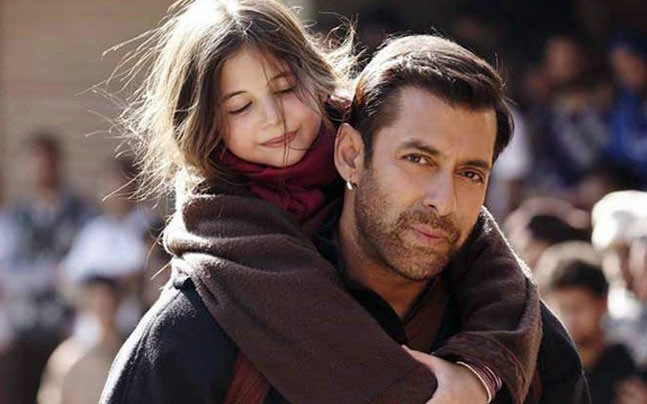 Harshaali Malhotra and Salman Khan in a still from Bajrangi Bhaijaan