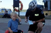 3-year-old biker gets parking ticket