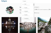 Instagram web version now has a search tool