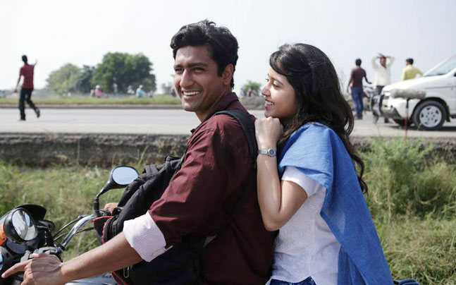 Vicky Kaushal and Shweta Tripathi in a still from Masaan