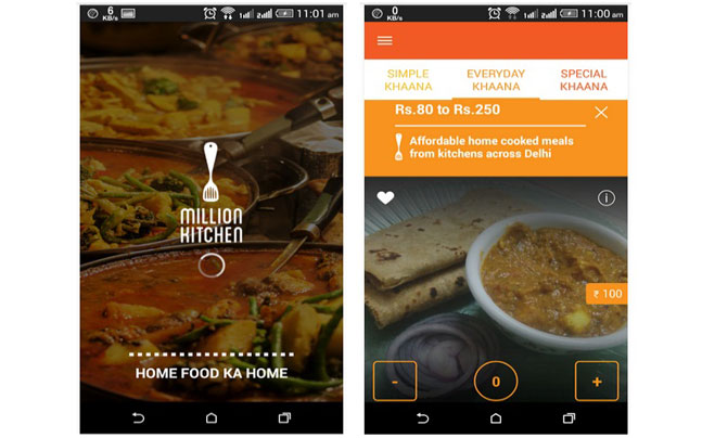 Million Kitchen App To Deliver Home Cooked Meals Technology News
