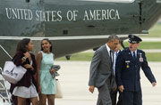 Obama takes daughters for night out in the Big Apple