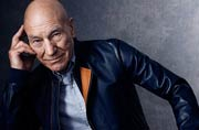 What was Sir Patrick Stewart doing on the sets of X-Men: Apocalypse?