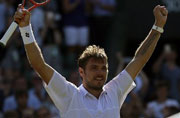 Wimbledon: Wawrinka beats Goffin to stay on course for rare double