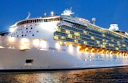 The 15-decker Mariner of the Seas, out of Singapore, is Asia's largest cruise ship.