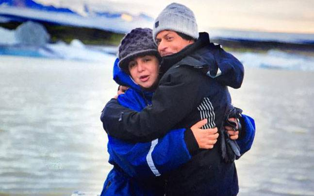 Shah Rukh Khan and Farah Khan in Iceland for Dilwale