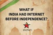 India in 1947 reimagined with new age brands and apps. This is sheer creativity!