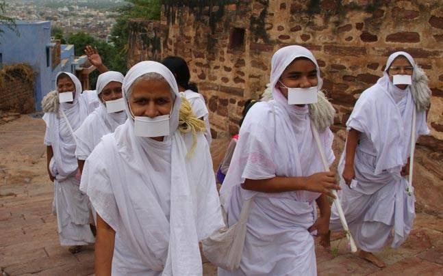 Jain community members