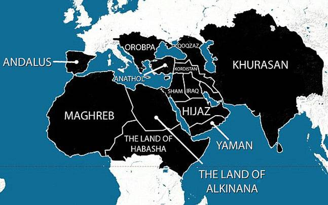 ISIS map of areas it wants to take over by 2020 includes India ...