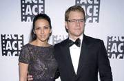 Matt Damon and Luciana Borroso