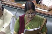 In defiant Lalitgate defence, Sushma targets Sonia, Rahul