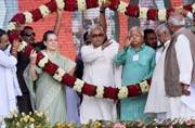 Bihar polls: Sonia, Nitish, Lalu launch joint attack on PM Modi