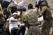 Lucknow: Protesting youths lathicharged, government property damaged