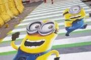 Minion and deer 3D paintings on crossings dazzle people in China