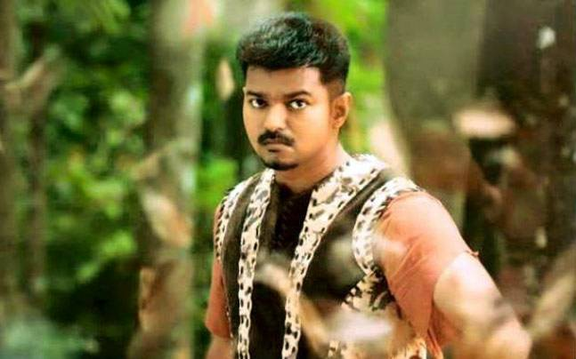 Puli promo song jingiliya watch vijay shruti haasan in a tribal vijay in a still from puli altavistaventures Choice Image