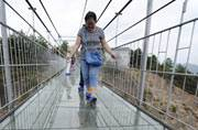 Longest glass bridge in China will scare you out of your wits