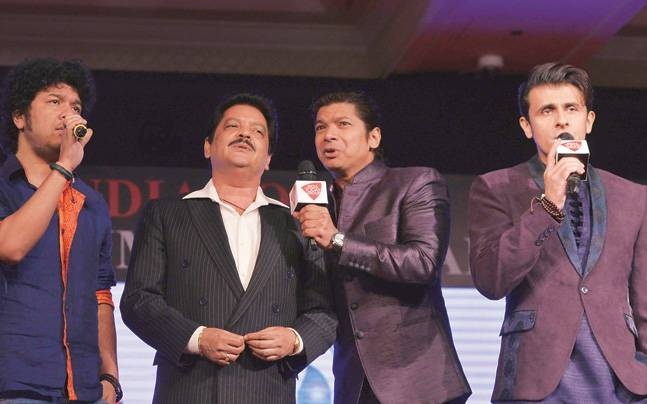 (From left) Singers Papon, Udit Narayan, Shaan, Sonu Nigam and Agam Kumar Nigam