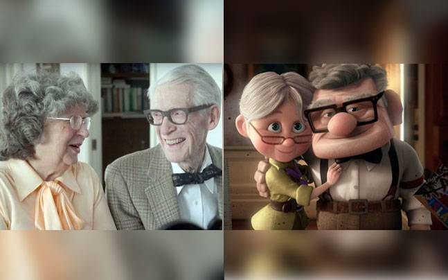 This recreation of Disney's Up by an old couple is a real tear