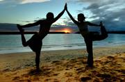 Chant Om and perform yoga as a couple to build a stronger bond
