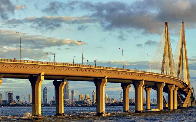 The Bandra-Worli sea link in Mumbai