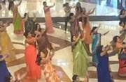 Watch: These women dancing to Bollywood songs in the first-ever saree flash mob will wow you