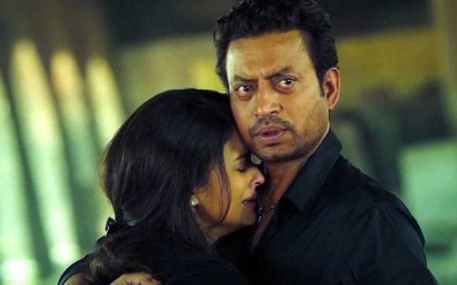 Aishwarya Rai Bachchan and Irrfan in a still from Jazbaa