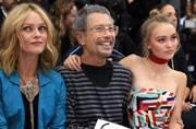 Lily-Rose Depp and mother Vanessa Paradis look like sisters as they take the front row at Paris Fashion Week