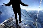And I walked into the void: Glass Skywalk in the Alps, France